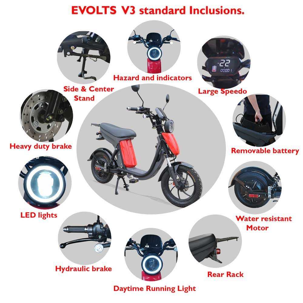 Evolts Electric Moped bikes 6